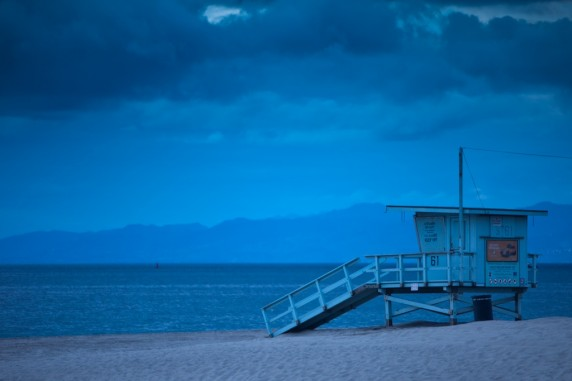 Facing the North Bay with Malibu in the Distance (same lifeguard station as above)