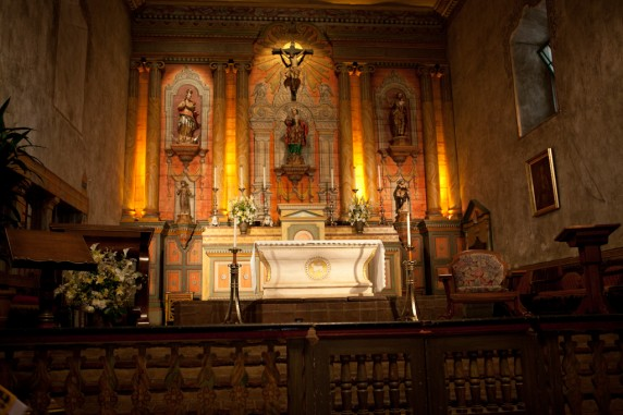 Chapel inside the Santa Barbara Catholic Mission