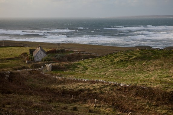 View along the Atlantic Ocean Just North of the Cliffs of Moher (in Doolin, Ireland)