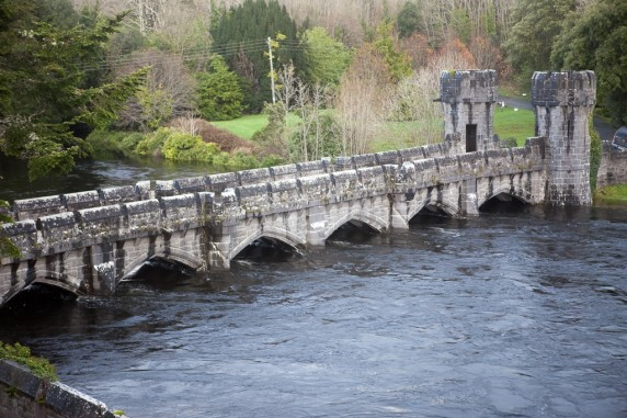 Ashford Castle Mote with Record Flooding, Ireland