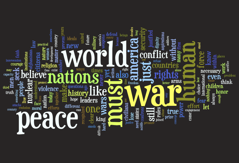 Obama Nobel Peace Prize Wordle
