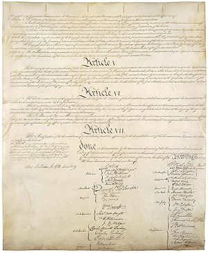 Fourth page of Constitution of the United States
