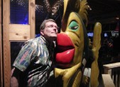 Tim with Jezebel at the Oar House in Pensacola