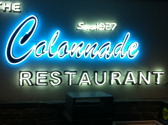 The Colonnade Restaurant Sign in Atlanta, GA