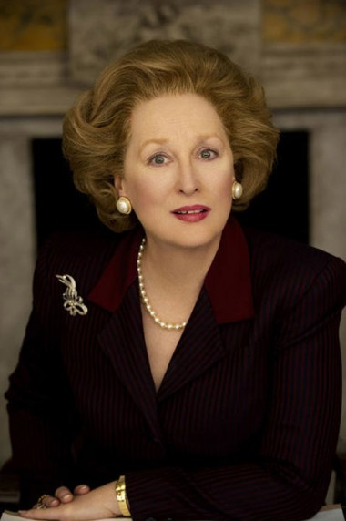 Meryl Streep as British Prime Minister Margaret Thatcher in The Iron Woman