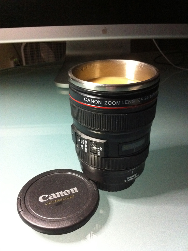 Canon Lens Hot Tea Cup