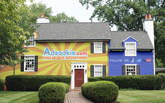 Adzookie Paint Your House with Advertisement