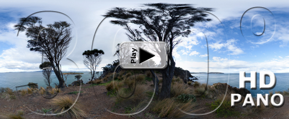Carlton Point, in Tasmania, Australia - Pano Play Button HD