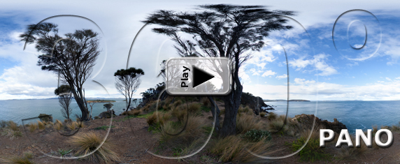 Carlton Point, in Tasmania, Australia - Pano Play Button - SD