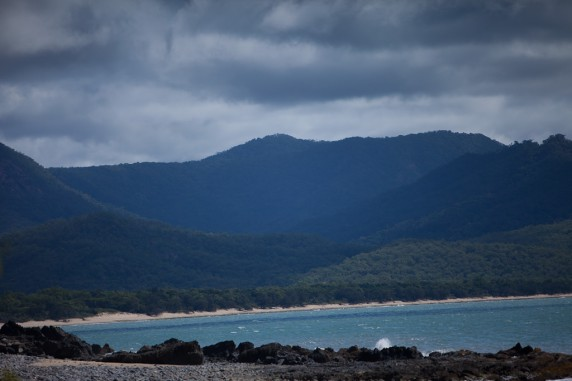 Sandy Beach Along Captain Cook Highway