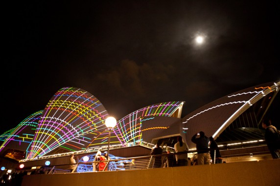 Laser Show Continues on the Sydney Opera House