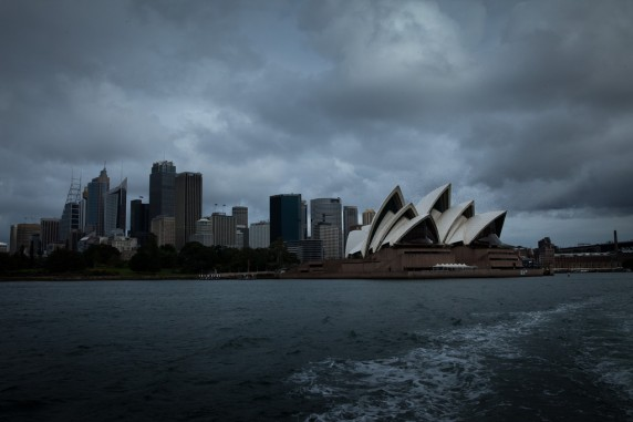 Sydney Opera House As Seen from the Ferry (wide angle)