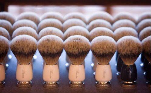 Vintage shaving brushes for lather