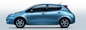 Nissan Leaf (blue)
