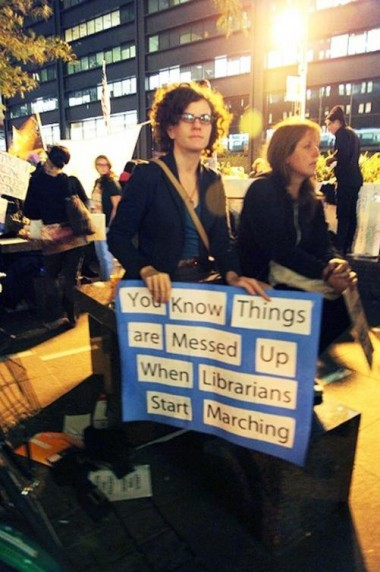 Librarian 99% Protest Sign