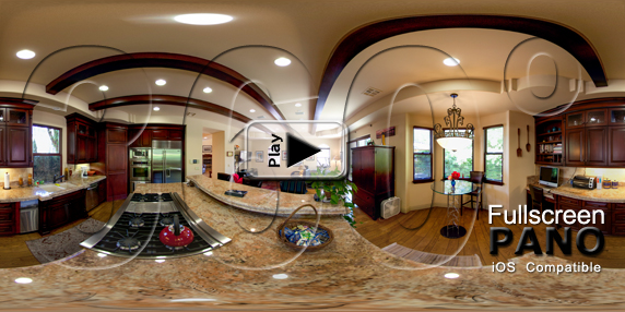 Poinsettia Kitchen Pano Play Button