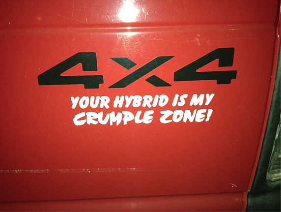 4x4 Your hybrid is my crumple zone