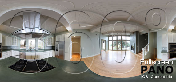 Kitchen and Dining Room Panorama Play Button