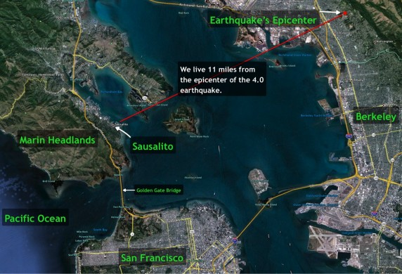 Earthquake Map Graphic