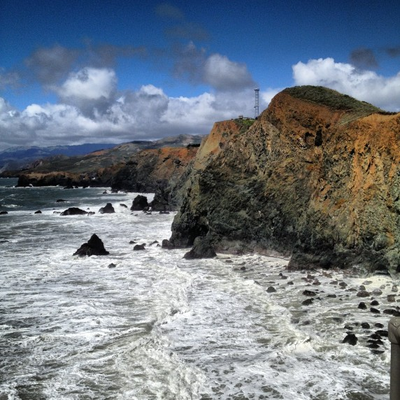 Northern Seacoast as Seen from Point Bonita Lighthouse