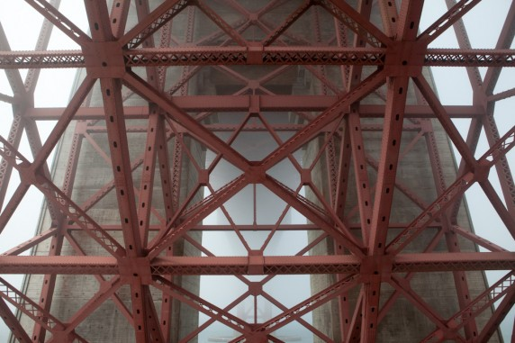 Under a Foggy Golden Gate Bridge