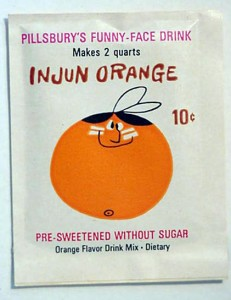 Injun Orange Pack 1964