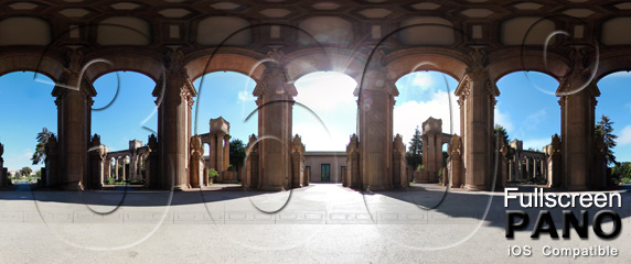 Palace of Fine Arts Pano 04 Play Button