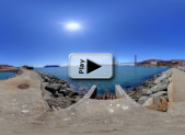 Golden Gate Bridge at Fort Baker Pano Play Button