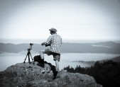 Tim As Ansel Adams Shooting a pano on Mt. Tamalpais