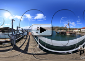 The Presidio Yacht Club Dock on Horseshoe Cove at Fort Baker Play Button