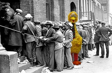 Big Bird in the Unemployment Line