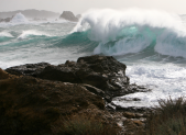 ocean waves at Point Lobos
