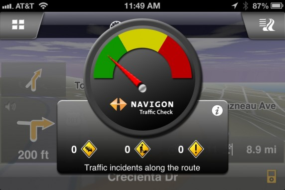 Navigon Realtime Traffic