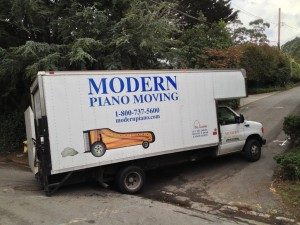Piano Moving Truck Stuck