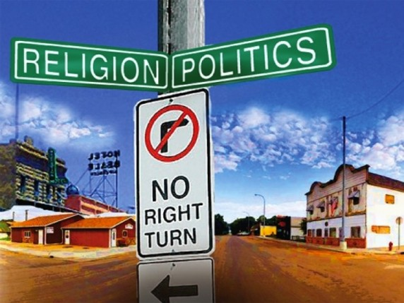 Religion Politics No Right Turn 572x429 photo in the post: Freedom and The New Tyranny, at www.timtyson.us