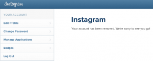 Deleted Instagram