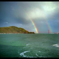 Double Rainbow Over the Golden Gate Bridge