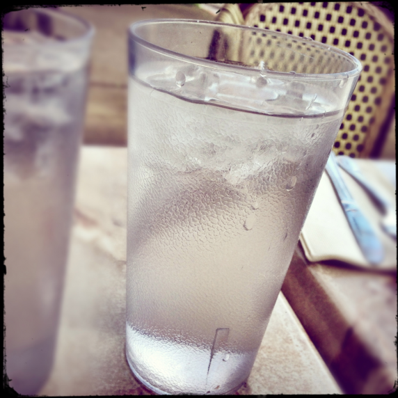 Glass of Water at Freds in Sausalito