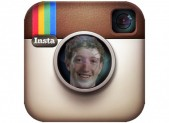 Instagram Logo with Facebook&#039;s Zuckerberg&#039;s Face