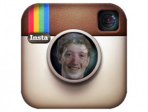 Instagram Logo with Facebook's Zuckerberg's Face