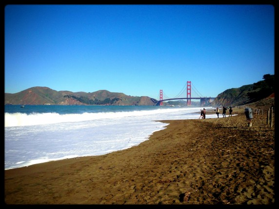 Baker Beach in the Shadow of the Golden Gate Bridge