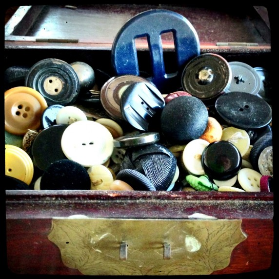 The Buttons in Aunt Helen's Button Collection