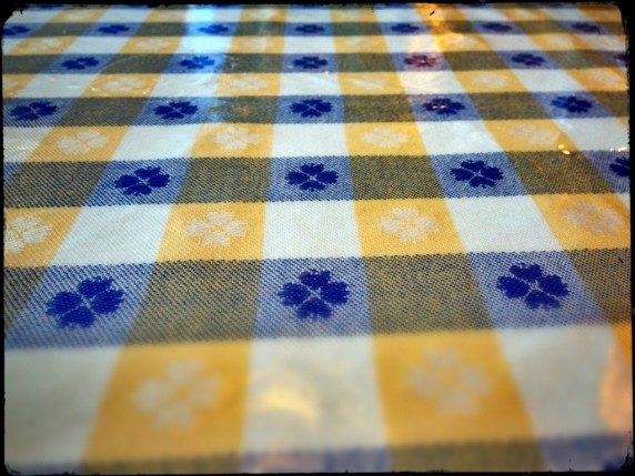 Blue and Yellow Table Cloth