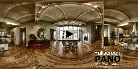 10mm HDR Indoor Surreal Dramatic Pano Play Button