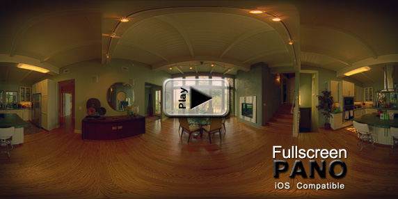 10mm HDR Indoor Surreal End of the Road Pano Play Button