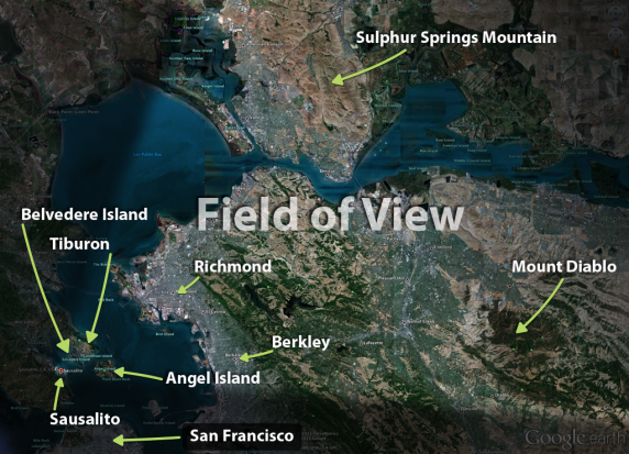 Field of View (Google Earth North Bay)