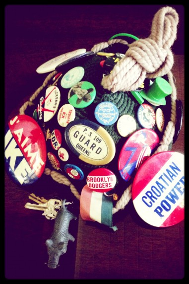 Helen's Hat of Vintage Buttons