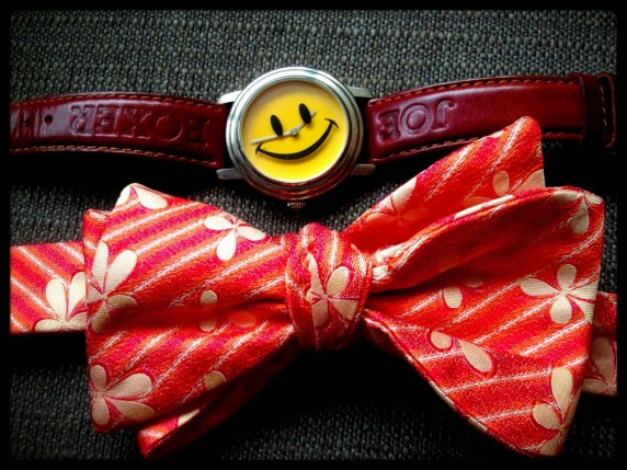 Joe Boxer Smily Face Watch Pictured with Bowtie