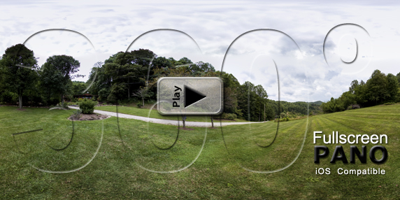 NC Mountain House Front Yard Pano Play Button