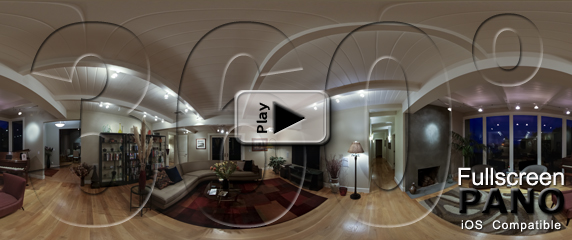 Piano Living Room Evening pano-play-button